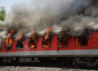 A Fire Broke Out In Two Wagons Of A Goods Train – Maharashtra