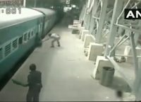 Viral Video: RPF Constable Saves A Man From Falling Under A Moving Train!