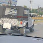 New Mahindra Thar Spied Rear Side