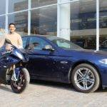 Imperial Blue BMW S1000RR Pro and 5-Series M-Sport