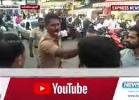 Video: Angry Fearless TN Cop – Challenges A Mob Of Protesters Single-Handedly!