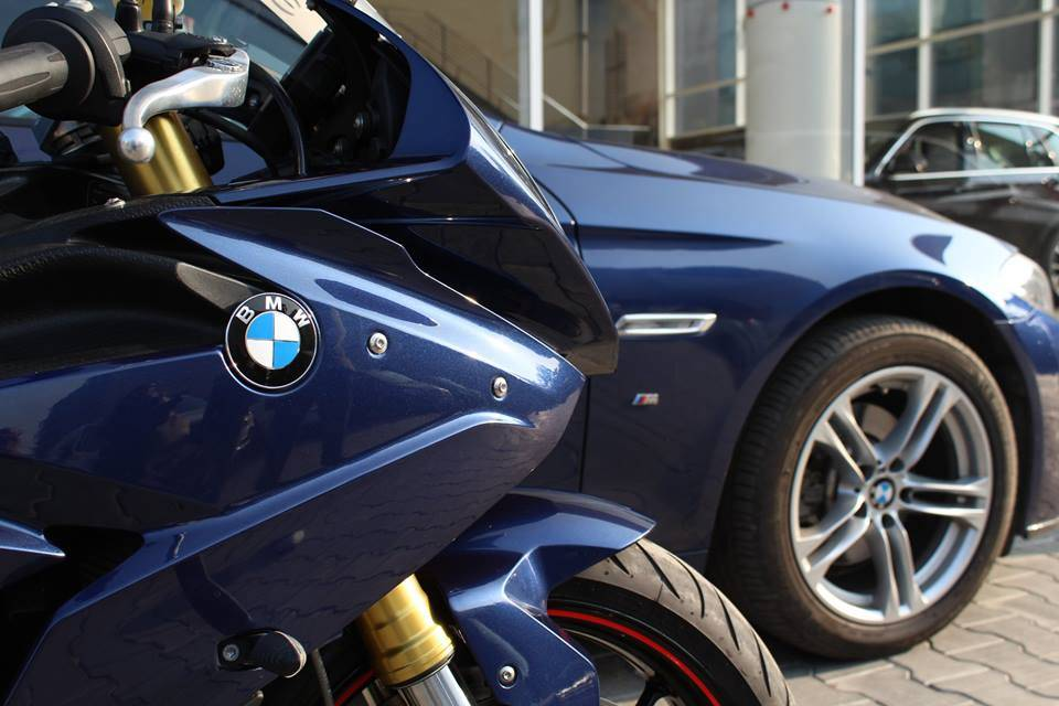 The BMW S1000RR Pro and 5-Series M-Sport