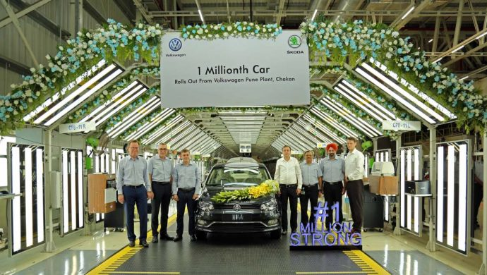 Volkswagen Pune Plant Rolls Out One Millionth Car, A Carbon Steel Ameo